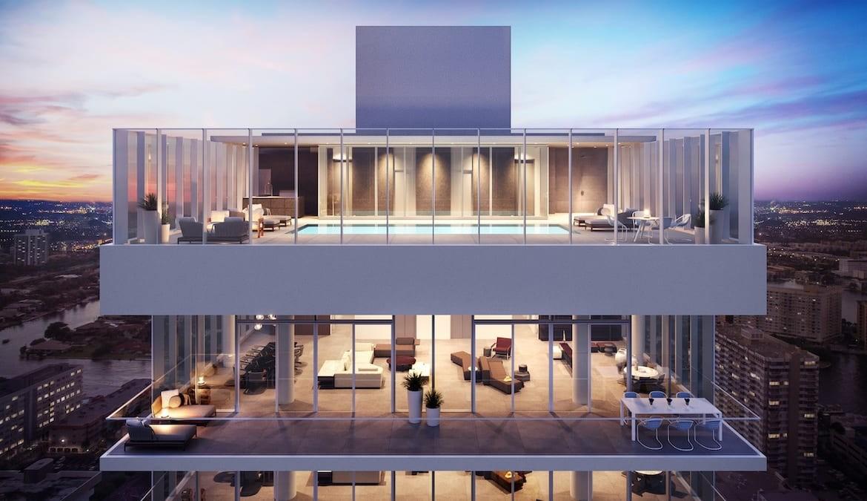 2000 Ocean Condos Building Penthouse Exterior