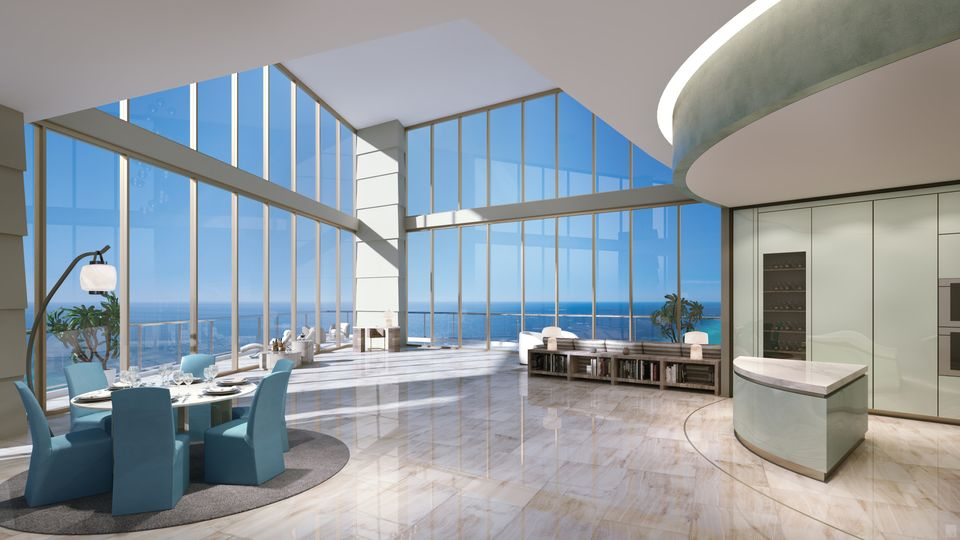 Rendering of Armani Casa Condos Penthouse