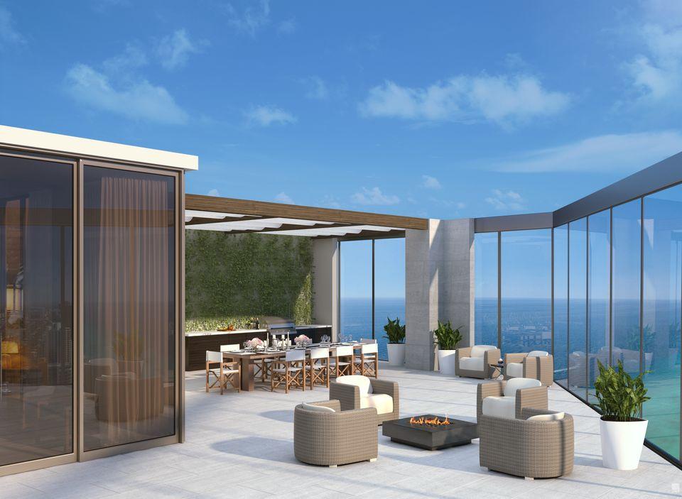 Rendering of Armani Casa Condos Terrace