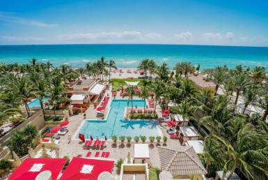 Residences at Acqualina Sunny Isles Beach Condos Swimming Pool Area