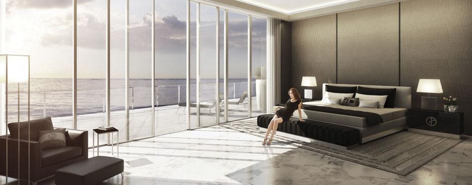Residences by Armani Casa Sunny Isles Beach Condos Bedroom