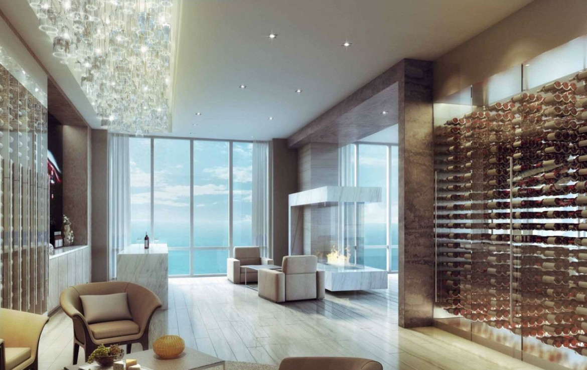 The Mansions at Acqualina Sunny Isles Beach Condos Living Area