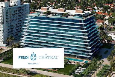 Fendi Chateau Residences Building with Logo Overlay