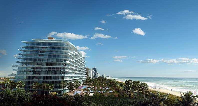 Fendi Chateau Residences Building Exterior and Ocean