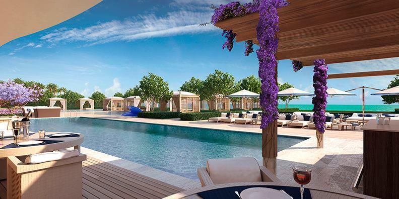 Fendi Chateau Residences Pool and Cabanas