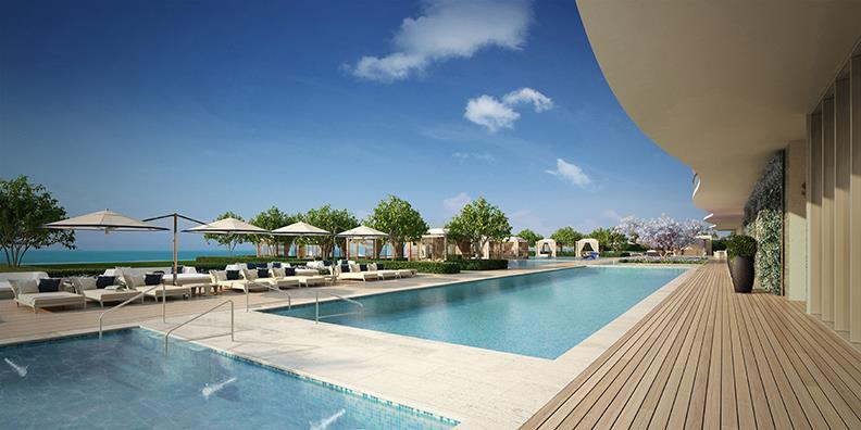 Fendi Chateau Residences Pool and Ocean View