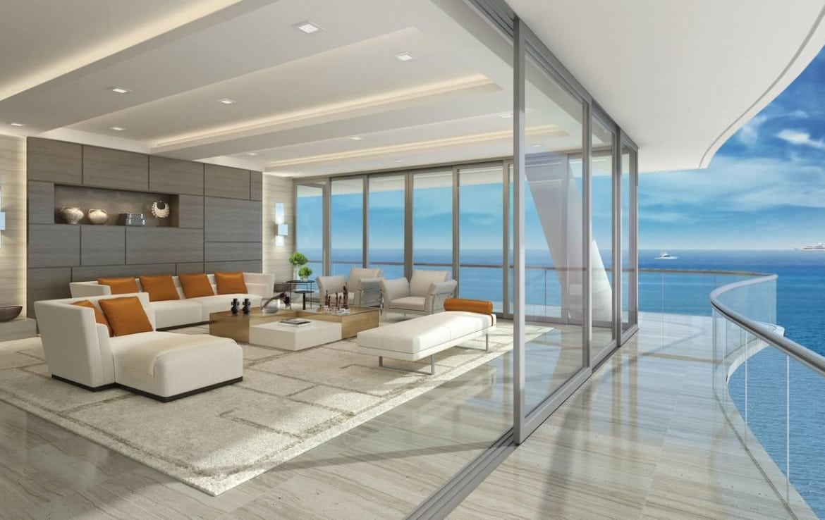 Fendi Chateau Residences Suite Balcony and Ocean View