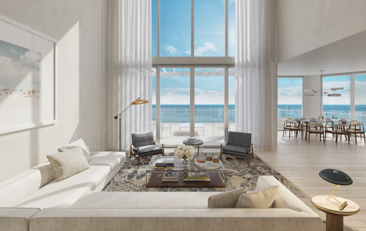 Four Seasons Residences Two-Floor Suite Living Room