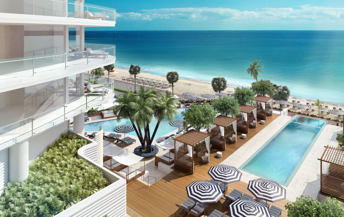 Four Seasons Residences Outdoor Amenities and Ocean View