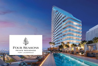 Four Seasons Residences Building with Logo Overlay