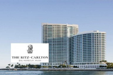 The Ritz-Carlton Residences One Bal Harbour Building with Logo Overlay