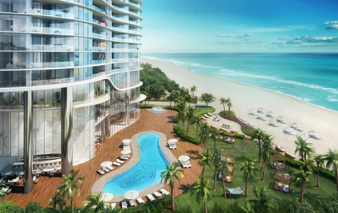 The Ritz-Carlton Residences Sunny Isles Building Exterior, Pool and Ocean