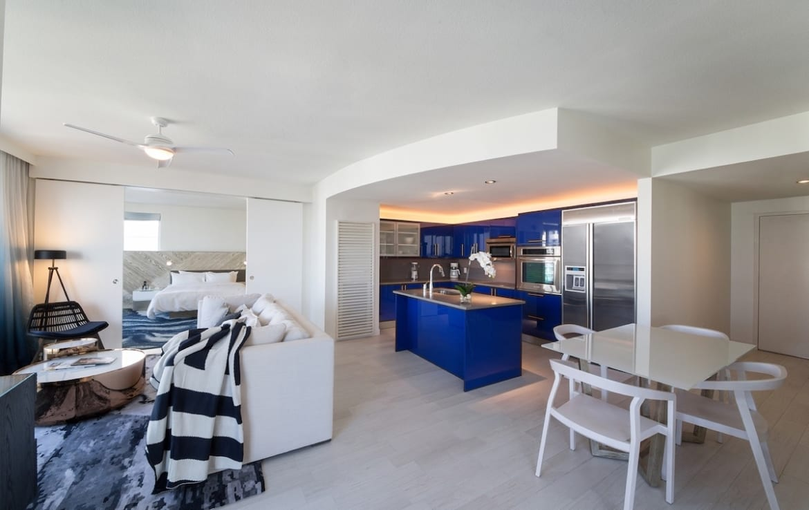 W Fort Lauderdale Residences Open-Concept Kitchen