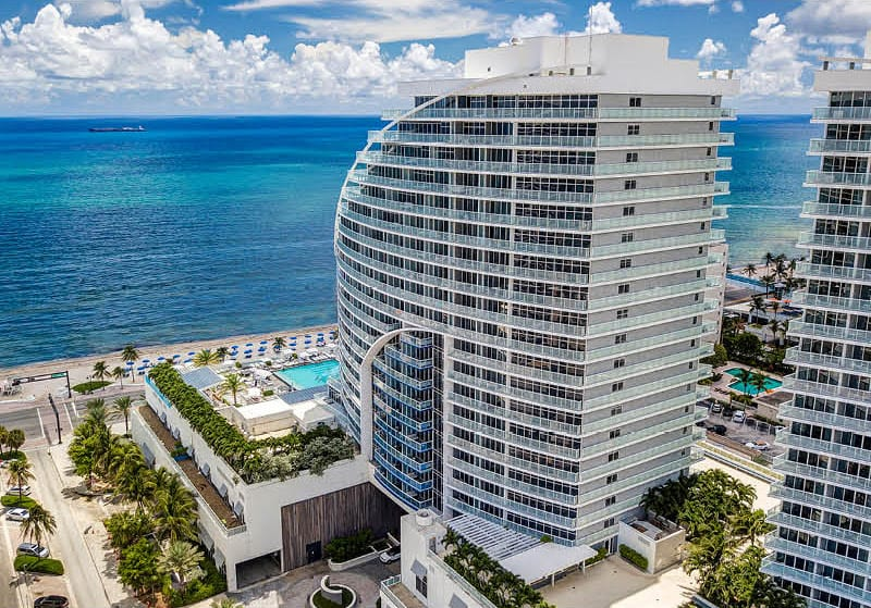 W Fort Lauderdale Residences Building and Ocean