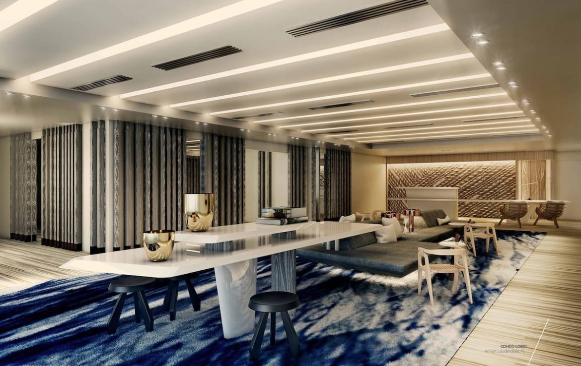 W Fort Lauderdale Residences Party Room