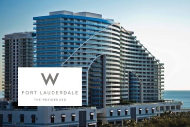 W Fort Lauderdale Residences Building with Logo Overlay