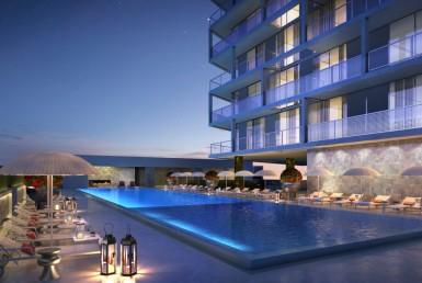 Metropica Sunrise Condos Swimming Pool Area
