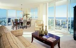 The Floridian Beach Condos Living Area