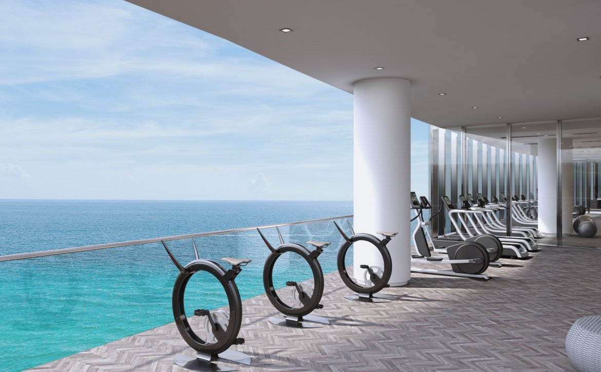 Turnberry Ocean Club Residences Sunny Isles Beach Condos Fitness Centre Fitness View