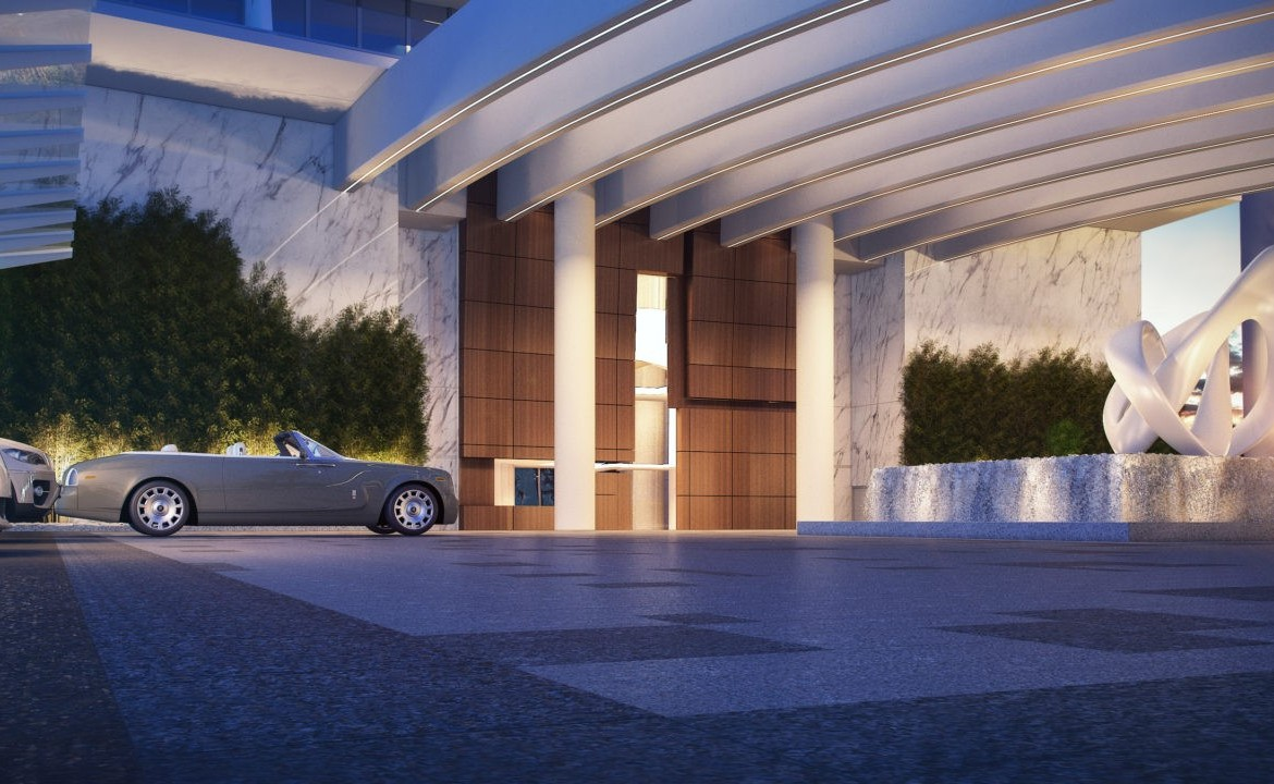 Turnberry Ocean Club Residences Sunny Isles Beach Condos Parking Area