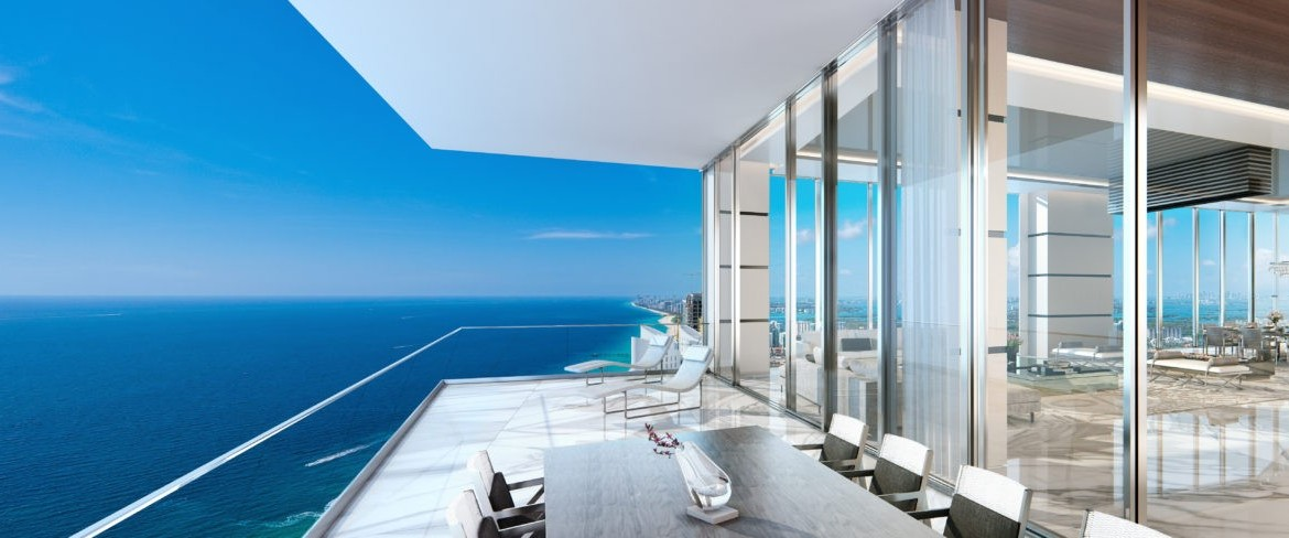 Turnberry Ocean Club Residences Sunny Isles Beach Condos Lake View Balcony