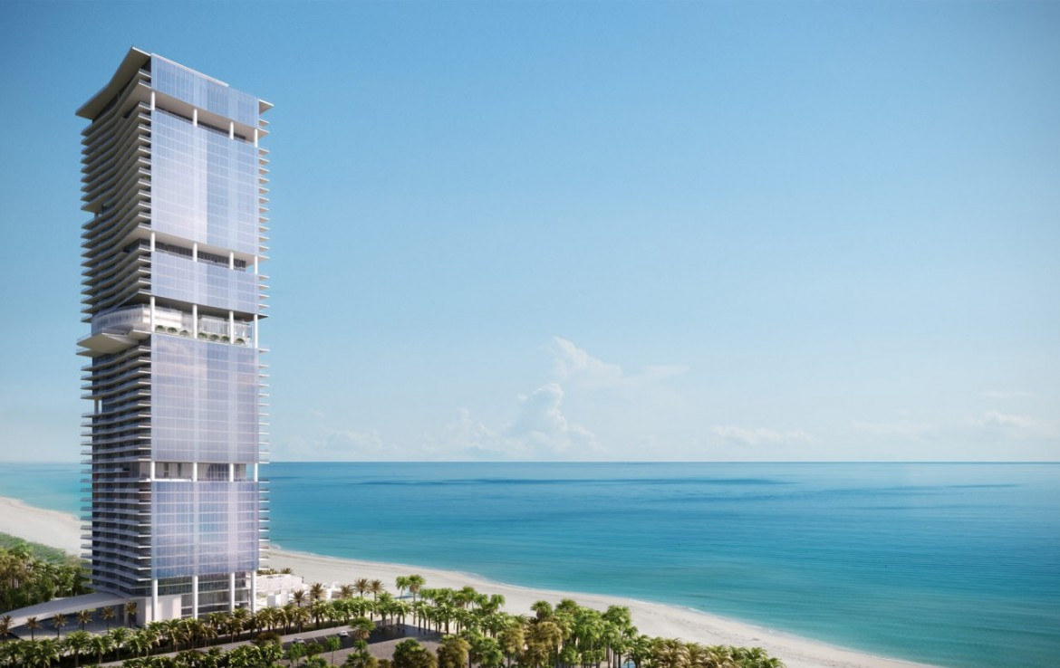 Turnberry Ocean Club Residences Sunny Isles Beach Condos Skyline View