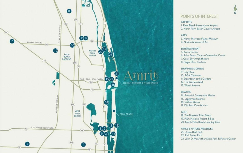 Amrit Ocean Condos Location Map