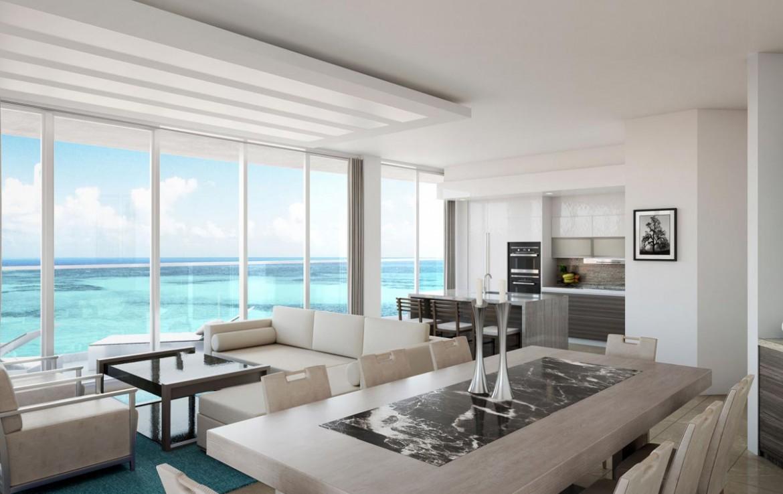 Interior Rendering of Amrit Ocean Resort and Residences Living Area