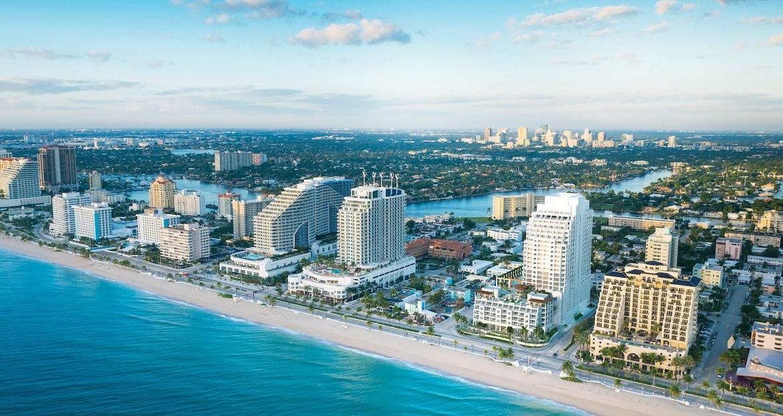 The Ocean Resort Residences Conrad Fort Lauderdale Beach Aerial