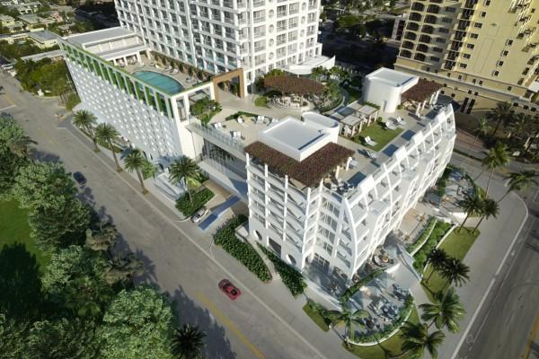 The Ocean Resort Residences Conrad Fort Lauderdale Beach Birds-eye