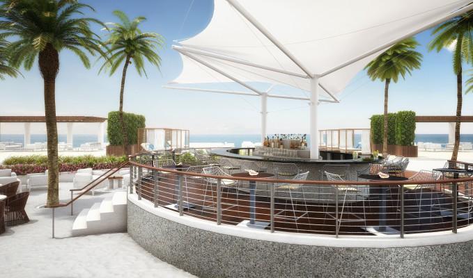 The Ocean Resort Residences Conrad Fort Lauderdale Beach Pool Bar
