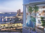 rendering-exterior-of-okan-towers-miami-Pool-Deck-Dusk