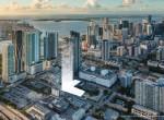Aerial rendering of Legacy Hotels & Residences.